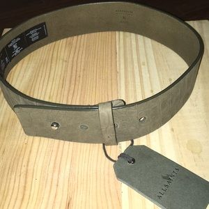 NWT All Saints croco belt, made from leather